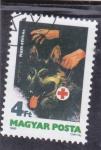 Sellos de Europa - Hungría -  PASTOR ALEMAN de rescate