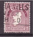 sellos de Europa - Irlanda -  mapa