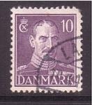 Sellos de Europa - Dinamarca -  Christian X