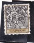 Stamps : Europe : Spain :  Batalla de Tetuán (Fortuny) (37)