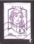 Stamps France -  marianne de Ciappa Kawena