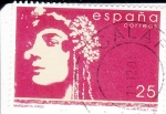 Sellos del Mundo : Europa : España : Margarita Xirgu (37)