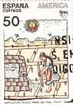 Sellos del Mundo : Europa : España : agricultura inca , riego del maiz UPAE(37)