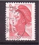 Stamps France -  Libertad de Gandon