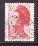 Stamps France -  libertad de Gandon