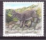 Sellos de Europa - Liechtenstein -  serie- Fauna alpina