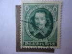 Stamps Germany -  Otto Von Guericke (1602-1686) Físico-250 Aniversario de su Muerte-Alcalde de Magdeburgo.