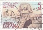 Sellos de Europa - España -  defensa naval de Tenerife (37)