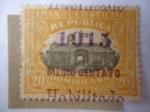 Stamps Dominican Republic -  Sello Oficial D9-Sobreimpreso-Habilitado 1915- 1/2c sobre 20c.