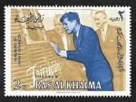 Stamps United Arab Emirates -  Ras al Khaima - 9 - John F. Kennedy