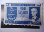 Stamps Venezuela -  Colegio de Ingenieros de Venezuela-Juan J. Aguerrevere, primer Presidente. Centenario, 1861-1961.