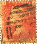 Stamps : Europe : United_Kingdom :  One Penny Rojo