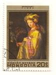 Stamps Mongolia -  375 Aniv. del nacimiento de Rembrandt. Flora