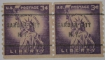 Stamps : America : United_States :  Liberty 3c