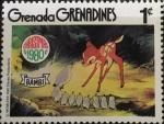 Sellos del Mundo : America : Granada : Bambi y las codornices