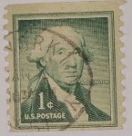 Stamps United States -  George Washington 1c