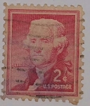 Stamps : America : United_States :  Thomas Jefferson 2c