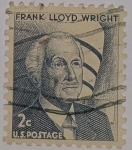 Stamps : America : United_States :  Frank Lloyd Wright 2c