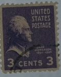 Stamps United States -  Thomas Jefferson 3c
