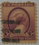 Stamps : America : United_States :  Susan B. Anthony 3c