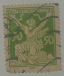 Stamps Czechoslovakia -  Chainbreaker 50
