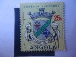 Stamps : Africa : Angola :  escudo de Armas - Povoacao de Noqui. república portuguesa.