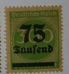 Stamps Germany -  75 Taufend