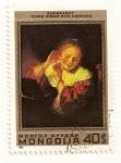 Sellos de Asia - Mongolia -  375 Aniv. del nacimiento de Rembrandt. Joven con pendientes.