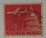 Stamps United States -  U.S. Air Mail 8c