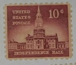 Stamps United States -  Independence Hall 10c