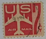 Stamps United States -  U.S. Air Mail 7c