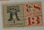 Stamps United States -  U.S. Air Mail 13c