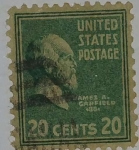 Stamps United States -  James A.Garfield 20c