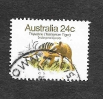 Sellos del Mundo : Oceania : Australia : Tigre de Tasmania