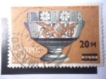 Stamps : Asia : Cyprus :  Vidrios y Cerámicas - (Estampilla Sobreimpresa)