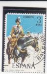 Stamps Spain -  caballo coraza (38)