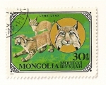 Stamps Mongolia -  Gatos salvajes. LInce.