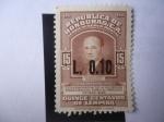 Stamps : America : Honduras :  Julio Lozano Díaz (1885-19567) Conmemorativa de la sucesión presidencial para el periodo 1949/55.