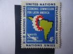Stamps ONU -  ONU-Nueva York - Comisión Económica para América Latina-Hacia el Desarrollo Económico.