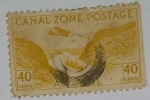 Stamps United States -  Canal Zone Postage Air Mail 40c