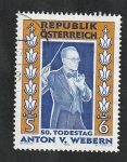Sellos del Mundo : Europa : Austria : 2002 - 50 Anivº de la muerte de Anton von Webern, compositor
