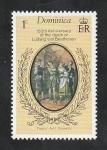 Sellos de America - Dominica -  518 - 150 anivº de la muerte de Beethoven