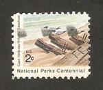 Sellos del Mundo : America : Estados_Unidos : 950 -- Centº de los Parques Nacionales, Costa de Cabo Hatteras