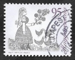 Sellos del Mundo : Europa : Hungría : 4148 - Jóven con patos, diseño de Judit Wigner