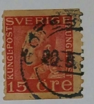 Stamps Sweden -  Suecia 15 ore