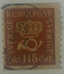 Stamps Sweden -  115 ore
