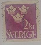 Stamps Sweden -  2 kr