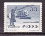 Stamps Sweden -  Helicoptero postal