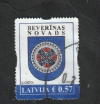 Stamps : Europe : Latvia :  948 - Escudo de armas de Beverinas