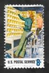 Stamps : America : United_States :  987 - Homenaje a los 700.000 trabajadores del Servicio Postal